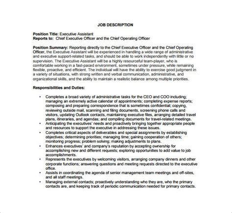 Chief Operating Officer Job Description Template - 9+ Free